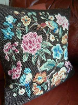 Antique Country House tapestry cushion cover hand tapestry Bluebirds & Peonies