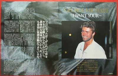 George Michael 1987 Clipping Japan Magazine Cutting O8 B12 4Page