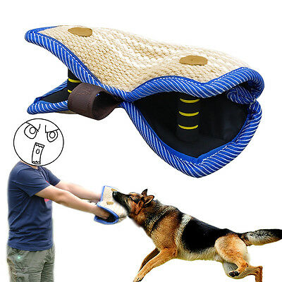 Jute Dog Training Bite Pillow Strong Pet Chew Toy for Police Dog German Shepherd