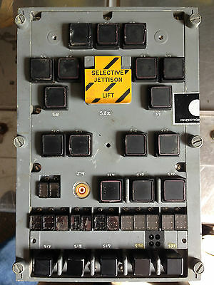 RAF Aircraft   Marconi Tornado   Cockpit Weapon Control Panel