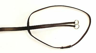 HyCLASS Leather Running Martingale for Horse & Ponies Dark Brown/ Black 459P