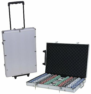 Ultimate Poker Set 1000 piece 14g Clay Chips with Carry Case and Accessories