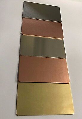 Aluminium Stainless Copper Brass Business Card Blanks Ideal for wallet Cards