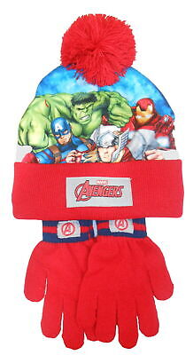 Marvel Avengers Children's Knitted Bobble hat & Glove Set