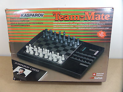 Saitek Kasparov Team Mate Electronic Chess Game, 1990 Retro Computing Complete