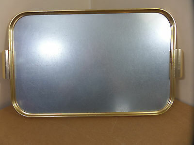 Vintage 60s / 70s aluminium / gold serving tray by Carefree, Manchester, England