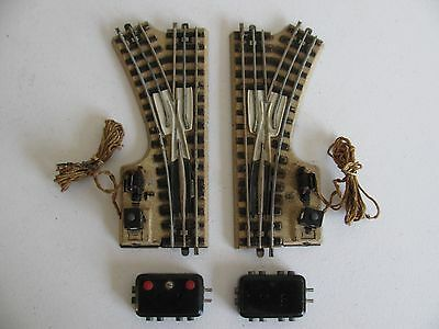 1930s Marklin HO M Track Electric Remote Control Right & Left Turnout Switches