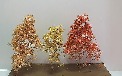 Good Economical Alternative Leaf Cover for HO/N Scale Trees Fall Colors (LF3)