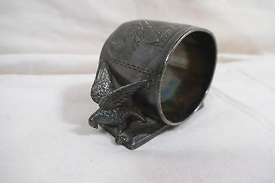 Antique Silver Plate Figural Napkin Ring - Meridian - Doves - #146