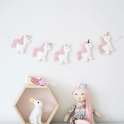 Unicorn Bunting Princess Nursery Garland Girls Bedroom Fun Gift New Handmade