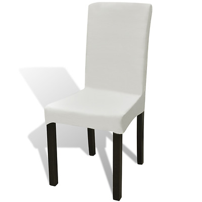 S# 6x Cream Elastic Spandex Stretch Chair Cover Wedding Party Banquet Slipcover