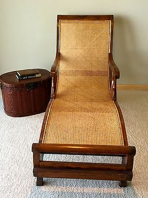 Antique British Colonial Plantation Chaise Lounge Chair (Circa 1880)