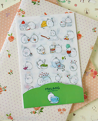 Cute Cartoon Stickers 6pc Molang Potato Bunny Rabbit Ver 2 planner diary sticker