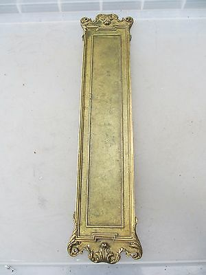 Vintage Brass Finger Plate Push Door Handle Antique French Rococo Baroque Gilt