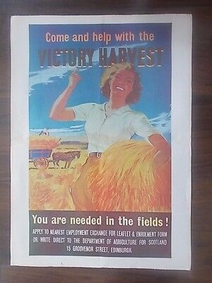 Vintage Style Wwii Information Propaganda Poster - Victory Harvest - Come Help