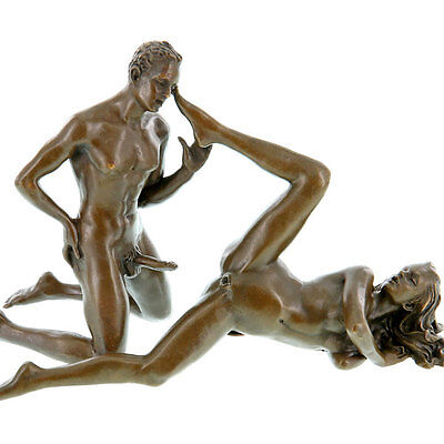 Bronze Figuren Paar Neu Sex-Party Mann + Frau 'the Lovers' Kopfkino Hot ♥-Erotik