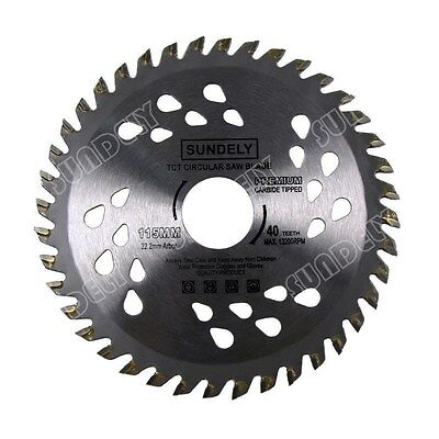 SUNDELY 2 Pcs 115mm Angle Grinder saw blade for wood and plastic 40 TCT Teeth