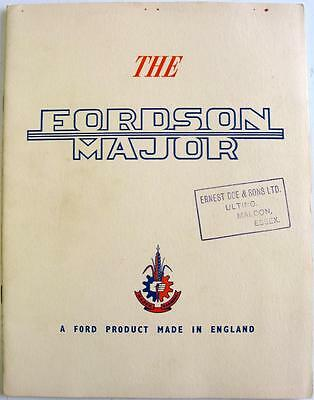 FORDSON Major Tractor Original Sales Brochure Aug 1953 #I/K1875/853/EX
