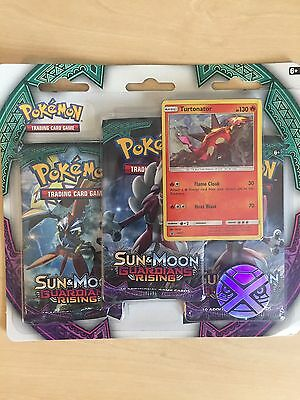 Pokemon Trading Card Game - Sun&Moon Guardians Rising Triple Booster Pack New