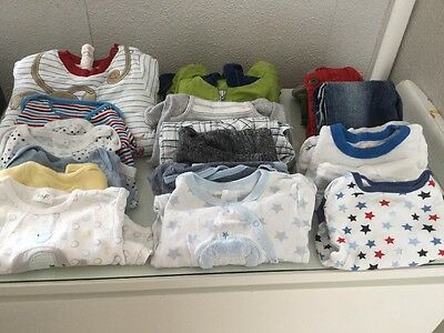 Baby Boy Bundle 3-6 Months Next/M&s/tu/George Etc Coat/thick Sleep Suit