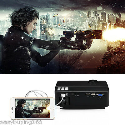 3000Lumen LED Projector 1080P LCD Home Theater HDMI/USB/SD/AV Multimedia Player