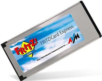 Fritz Card Express Notebook Laptop ISDN Karte intern Modem Fax XP Win7 fritzcard