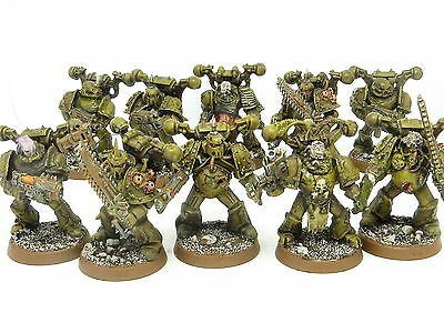 DEATH GUARD PLAGUE MARINES Painted ForgeWorld 40K Nurgle Chaos Space Marine Army