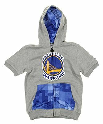 Zipway NBA Youth Golden State Warriors Full Zip Pixel Hoodie Shirt, Grey