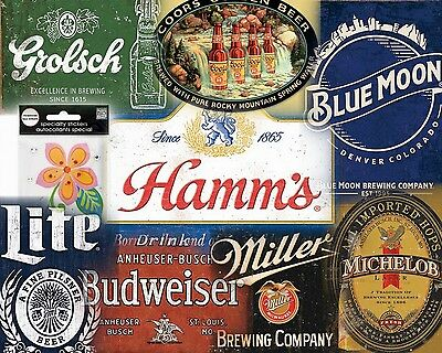 15 Different Beer Brand Style Sign Set $9.95 Ea. Free Shipping You Get All 15