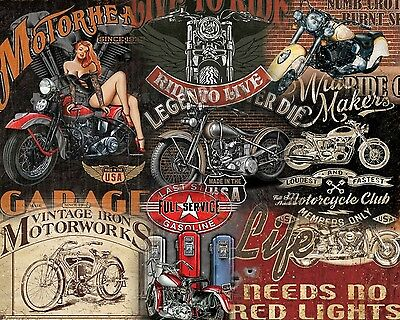 15 Different Motorcycle Metal Sign Set $9.95 Ea. W/ Free Shipping You Get All 15