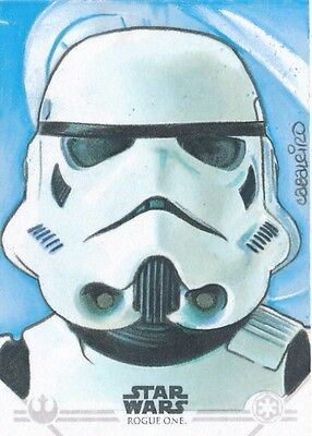 Star Wars Rogue One Mission Briefing Sketch Card Carlos Cabaleiro