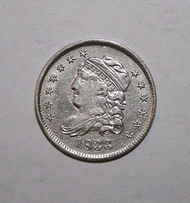 1833 Capped Bust Half Silver Dime E7