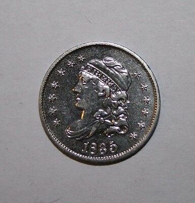 1835 Capped Bust Half Silver Dime G01 Cleaned