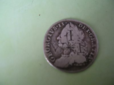 British Coins George 11 Sixpence Coin 1758