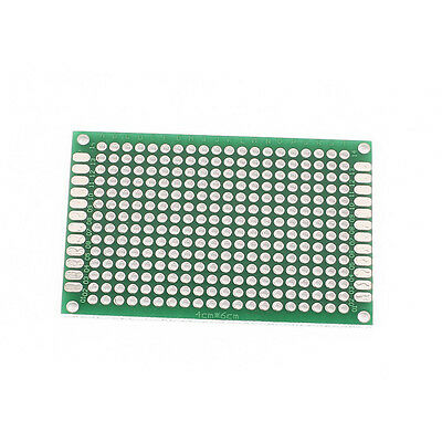 2 pcs Double sided perf board PCB - Through plated holes 4x6cm 40mmx60mm