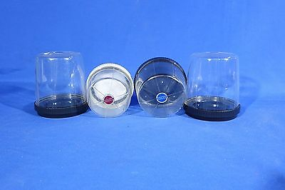 LOT of Clear HasselBlad Plastic MF Lens Cases #L546EW