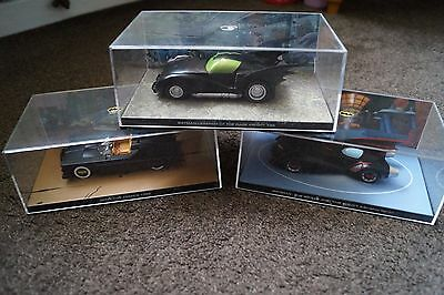 Job lot Eaglemoss Batman diecast vehicles in boxes with lenticular backgrounds