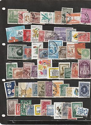 Stamps of Argentina - 60 Different Used.