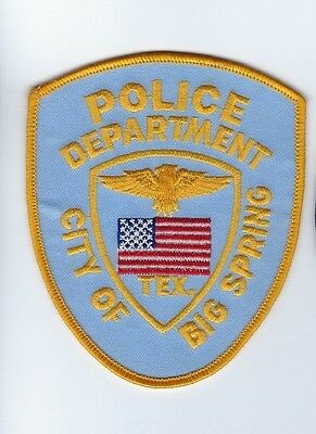 City of Big Spring (Howard County) TX Texas Police Dept. patch - NEW!