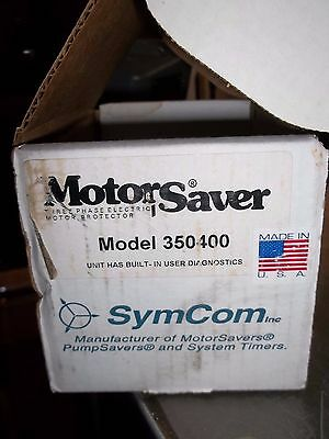 Motor Saver Ms350-400 Model 350 380-480Vac Protection Relay 3P Symcom  (Rr5)