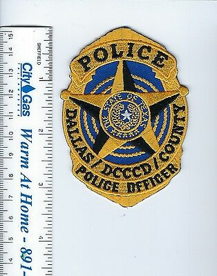 DCCCD Dallas Co. Comm. Coll. District TX Texas Police Officer GOLD patch - NEW!