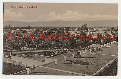 Old Postcard Pakistan British India General View of Rawalpindi Pindi 1900s AL367