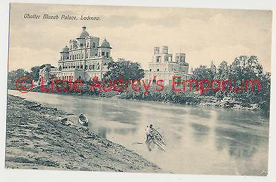 Old Postcard India Chatter Mazab Palace Lucknow 1900s AL378