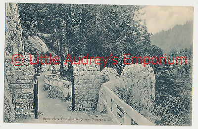 Old Postcard Pakistan British India Dunga Gully Gate Near Pipeline 1900s AL377