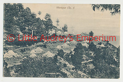 Old Postcard Pakistan British India khanspur (No.1) Military Camp 1900s AL369