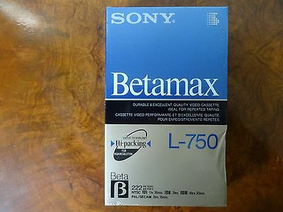 Rare Factory-Sealed SONY L750 BETAMAX Blank Video Cassette Tape