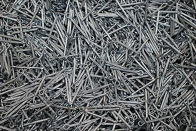 (1500) Cotter Pins 3/32 x 1 Extended Prong Zinc Plated