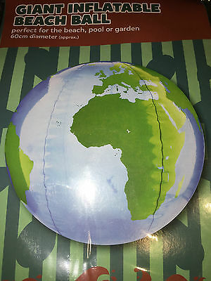 GIANT INFLATABLE BEACH BALL, Diameter 60cms, WORLD MAP, POOL, GARDEN, BEACH, NEW
