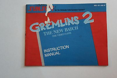 Gremlins 2 Manual, Instruction Book, Nintendo, Nes!