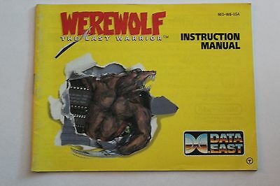 Werewolf Manual, Instruction Book, Nintendo, NES!